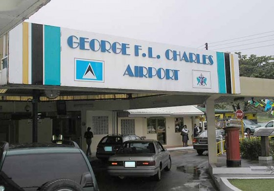 Drama at George F.L Charles airport
