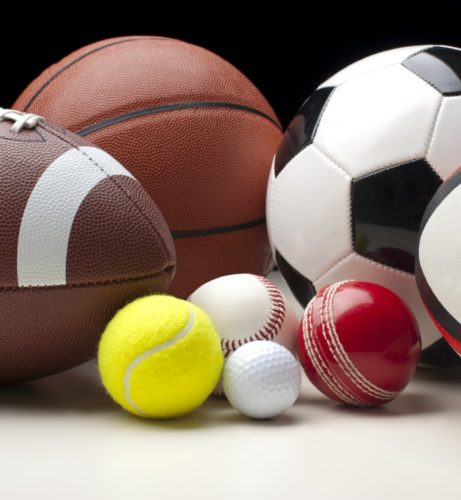 Sports balls for a number of different sports