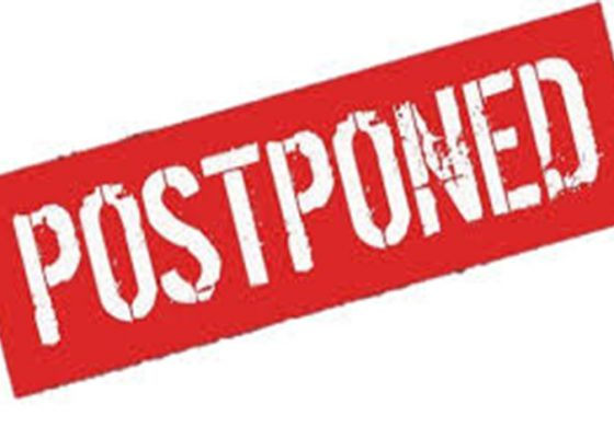 CSA Notice: Meeting Postponed