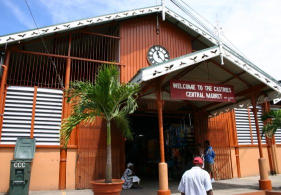 Castries Market junction works