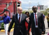 Usain Bolt reports for work as Digicel's Chief Speed Officer