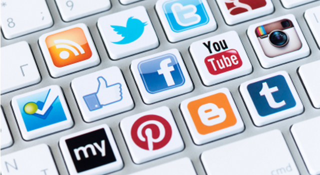social media icons - facebook youtube and twitter