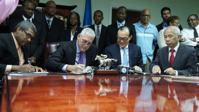 dsh project signing st. lucia