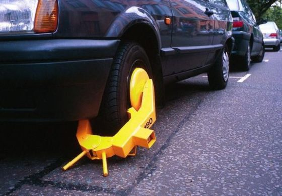 CCC clamps for illegally parked vehicles