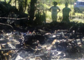 Charred body found in burnt out building