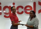 Roseline Deterville shows love in Digicel February Text to Win