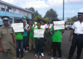Babonneau students in anti-suicide march