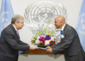 Saint Lucia's Permanent Representative to the UN Presents Credentials