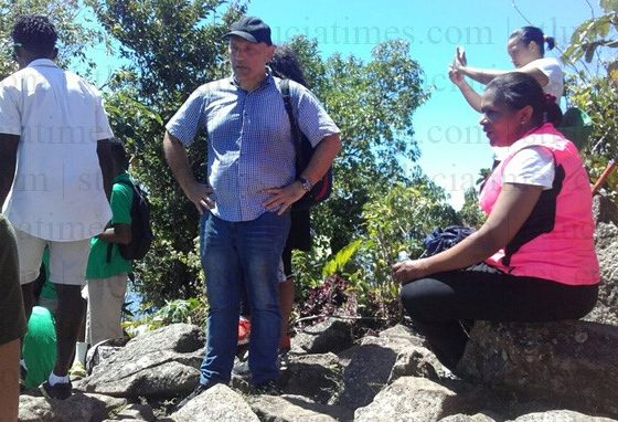 Minister, Diplomats conquer Gros Piton