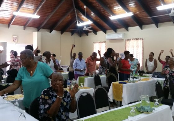 Association of retired persons celebrates