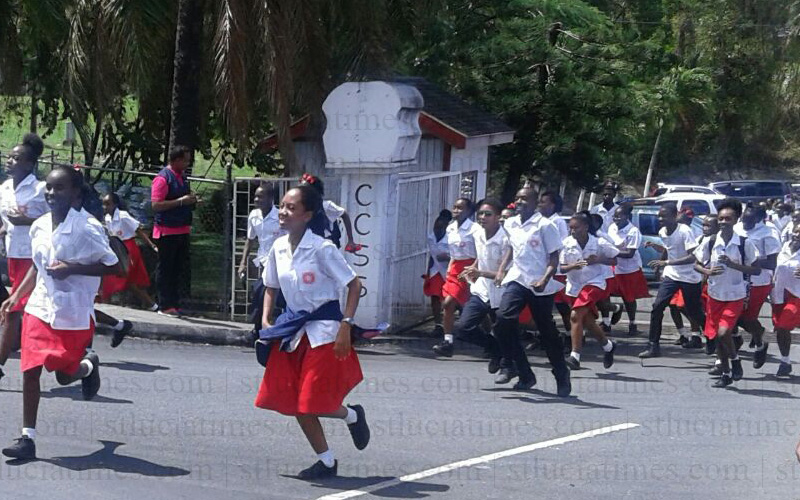 tsunami drill castries comprehensive secondary school saint lucia