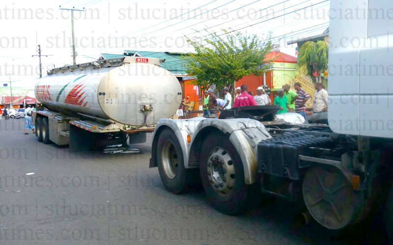 Rubis truck fuel mishap - St. Lucia Times