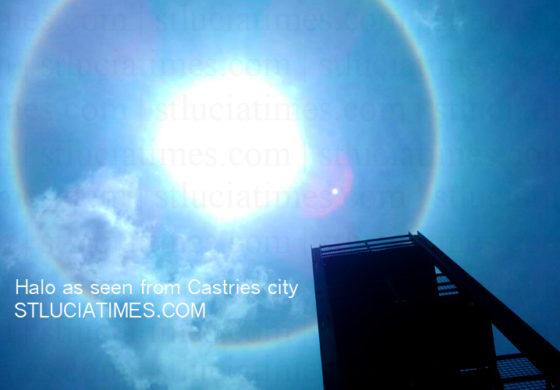 Halo around the sun seen in St. Lucia