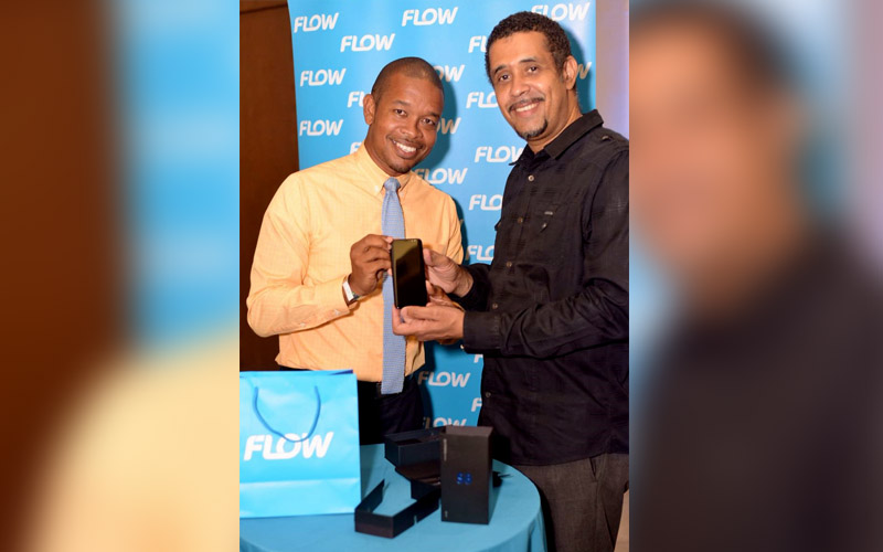 Flow's Terry Finisterre, presents new Samsung Galaxy S8 to Events Company Saint Lucia