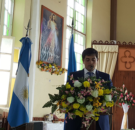 Thanksgiving mass to commemorate the 207th Anniversary of the Argentine May Revolution