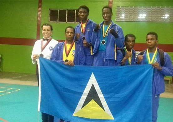 Team Saint Lucia wins third place, at Caribbean School Boys and Juniors Boxing Championships.