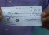 Business owner sounds fraudulent cheque alert