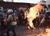 Venezuela protests: Man set alight as death toll rises
