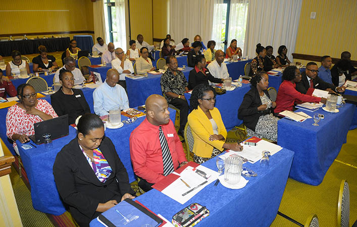 A section of the delegates attending the two-day FirstPartnership meeting at the Hilton Hotel, Barbados