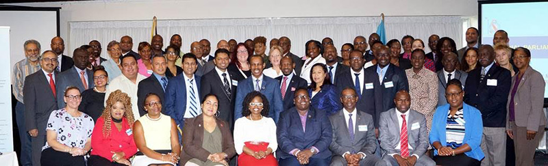 Regional parliamentarians, civil society leaders and UN partners at the PANCAP Regional Parliamentarians Forum, Wednesday May 31, 2017