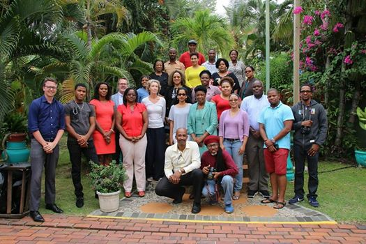 Saint Lucian media come out in support of Climate Change action despite inclement weather.