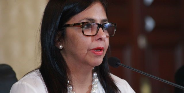 Venezuela's Foreign Affairs Minister, Delcy Rodriguez