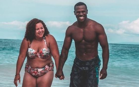 Couple's photo sparks body image debate