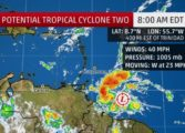 """Potential Tropical Cyclone"" approaching Windward Islands"