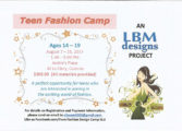 LBM Hosts Teen Fashion Summer Camp
