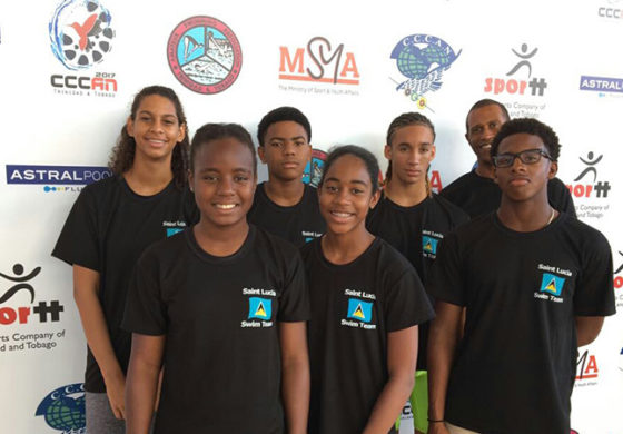 St. Lucia swim team returns home with 2 medals