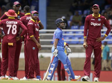 Windies beat India in 4th ODI