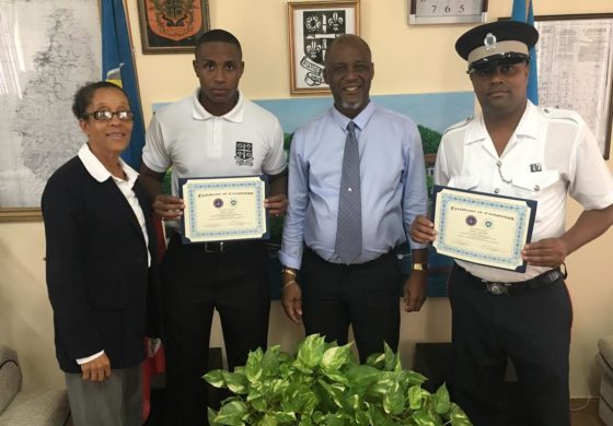 City Police Officer receive overseas training