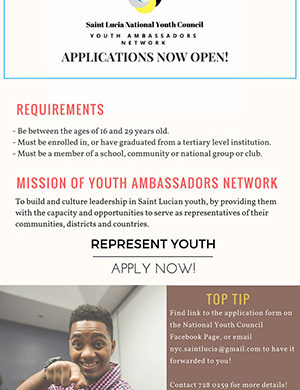 Applications Open for Saint Lucia National Youth Council Youth Ambassadors Network