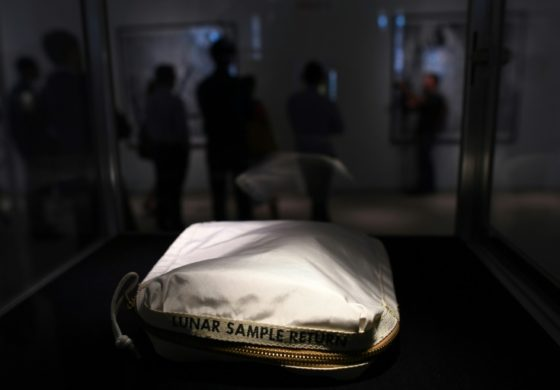 Neil Armstrong moon bag sells for $1.8mn in New York