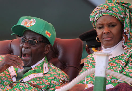 Zimbabwe's first lady injures ankle in 'freak' car accident
