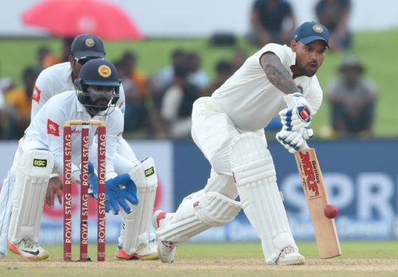 India's Dhawan dominates in first Sri Lanka Test
