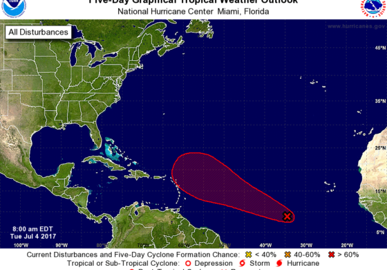 Tropical Depression likely to form in the Atlantic this week