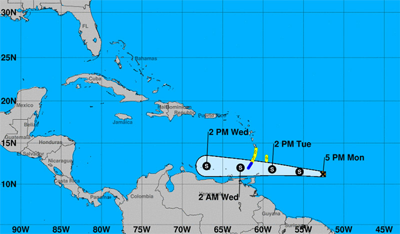 tropical storm don - stluciatimes