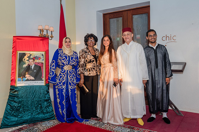 18th Anniversary of the enthronement of His Majesty Mohammed VI, King of Morocco reception at the Royal Rex Hotel