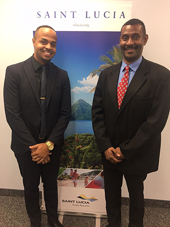 Andrew Ricketts of Total Public Relations and Dustan James, Director of Marketing Canada