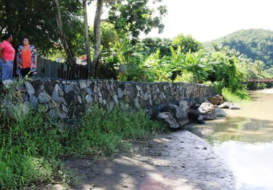 Anse la Raye flood barrier complete