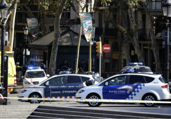 Van hits crowds in Barcelona tourist area