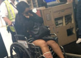 Soca Star Destra breaks ankle after falling through stage