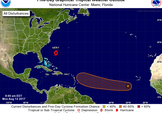 Atlantic system may become next Tropical Storm; potential threat for Lesser Antilles late this week