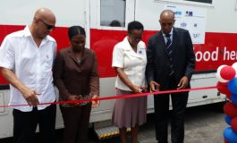St. Jude Hospital receives a mobile blood bank