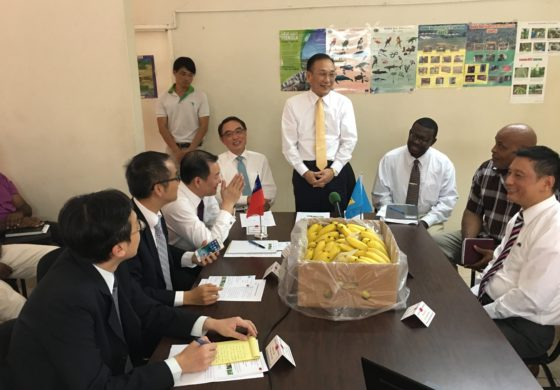 Taiwan's Vice Minister of Foreign Affairs visits local banana farm