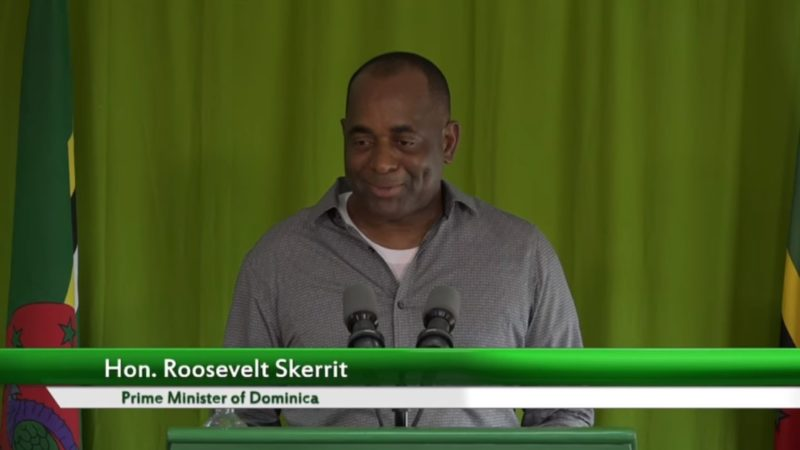Dominica's Prime Minister the Honourable Roosevelt Skerrit