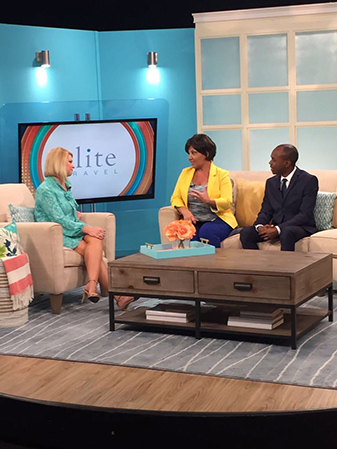 Minister For Tourism Hon. Dominic Fedee and CEO for Elite Travel Tammy Levent on ABC Tampa Bay's Morning Blend Show