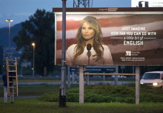 Melania Trump billboard removed in Croatia