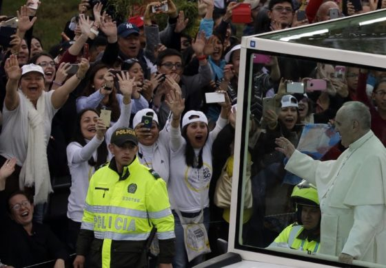 Pope kicks off visit to Colombia aimed at building bridges